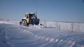 ПВМ на ЮМЗ-6Л по плотному снегу.