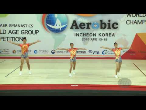 China 1 (CHN) - 2016 Aerobic Worlds, Incheon (KOR) - Qualifications Trio