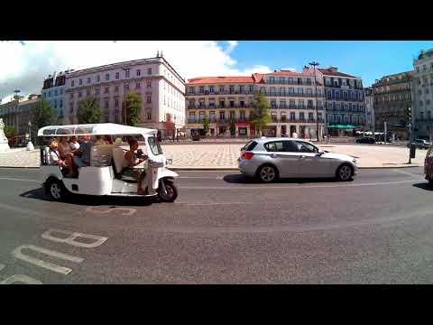 Tuk Tuk Ride in tourist area - Lisboa Aug. 2017