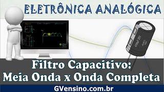 Gambar cover Aula 60 - Filtro Capacitivo: Retificador de Meia Onda vs Onda Completa