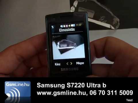 Samsung s7220 teszt | www.GsmLine.hu
