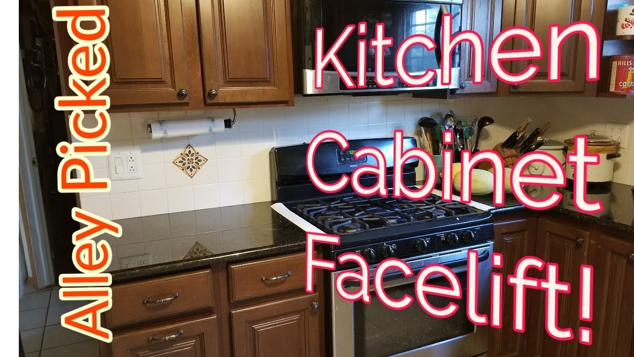 Give Your Kitchen Cabinets A Facelift Youtube