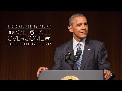 Civil Rights Summit at LBJ Library: President Barack Obama
