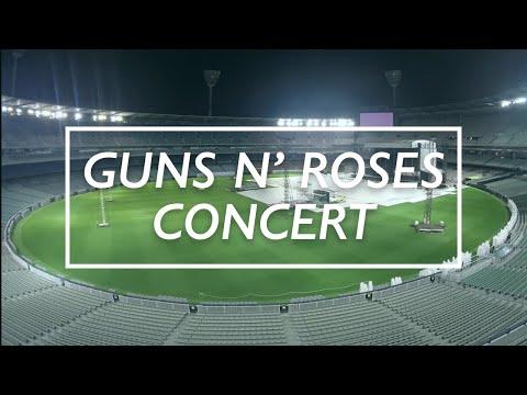 Timelapse: MCG arena transforms for Guns N' Roses