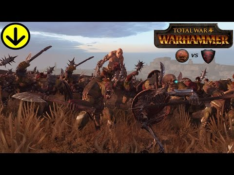 THE GREENSKINS SEND THE VAMPIRE COUNTS TO THE GRAVE! Total War Warhammer Online Battle Gameplay |