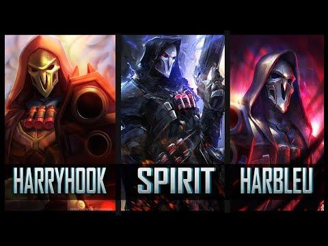 Spirit vs Harbleu vs Harryhook - Gods of Reaper 😱 | Overwatch Moments