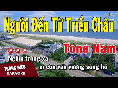 Karaoke Người Đến Từ Triều Châu Tone Nam Nhạc Sống | Trọng Hiếu