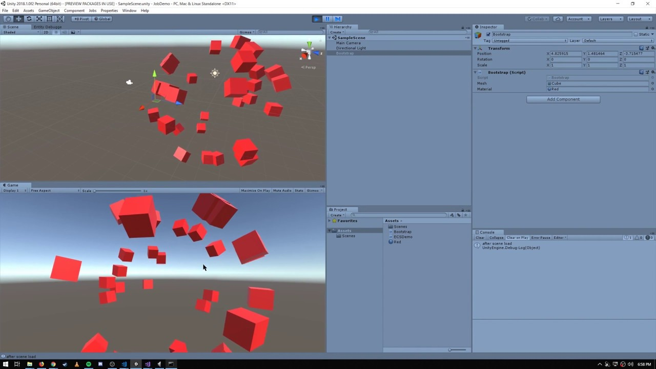 Unity - ECS transforms and rendering