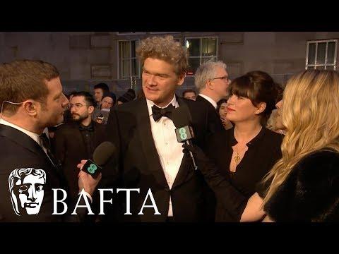 Paddington 2 Screenwriter Simon Farnaby Red Carpet   EE BAFTA Film Awards 2018