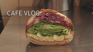 [Eng]카페 브이로그/cafe vlog/샌드위치 단면…