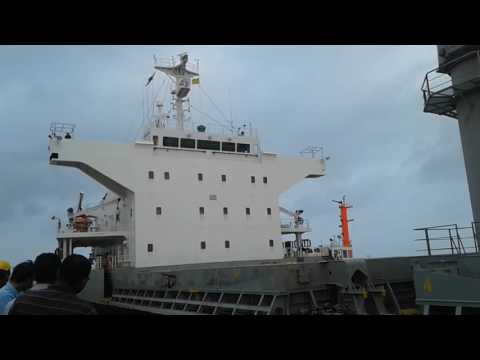 Amazing rare video!!! Berthing of Vessel (Ship) inside the harbor.