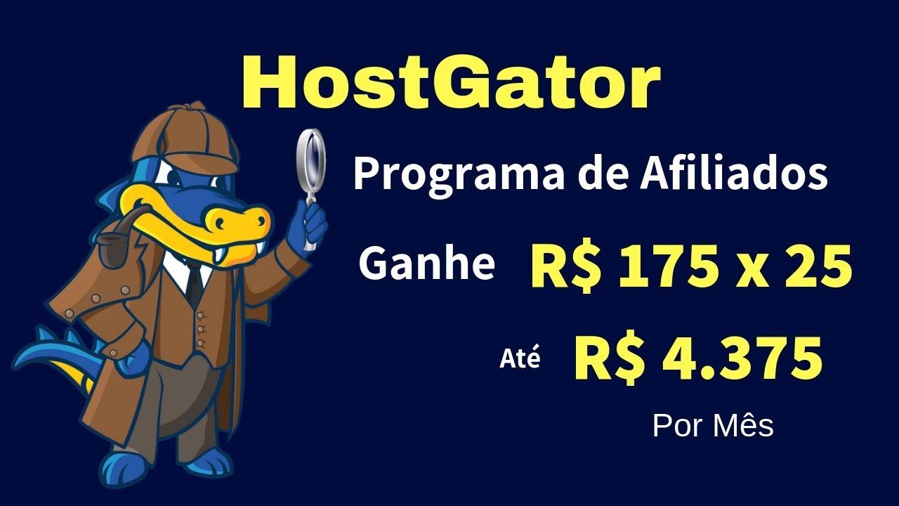 COMO GANHAR DINHEIRO NA INTERNET SENDO AFILIADO DA HOSTGATOR, GANHE ATÉ 4,375 POR MÊS