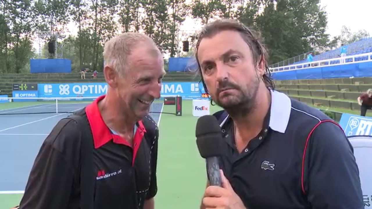 Henri Leconte interviews Thomas Muster at Optima Open