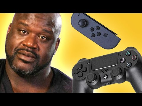 Shaq Reviews Video Game Controllers and Handhelds - Up At Noon Live!