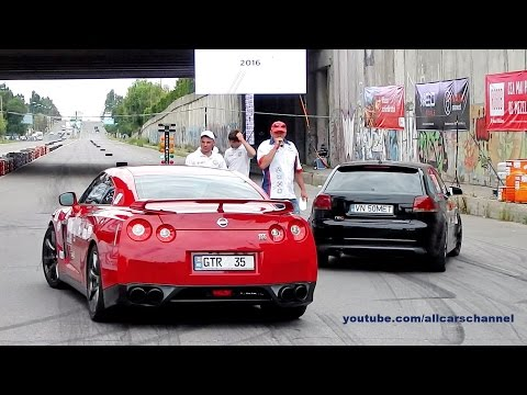 Audi S3 REVO Vs Nissan GT-R Stage 2 Drag Race