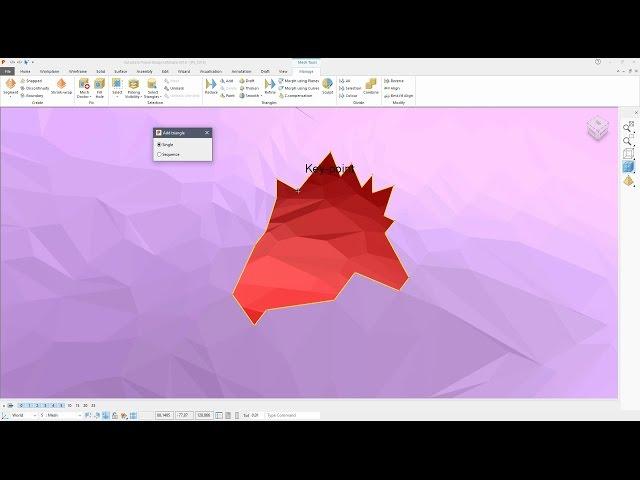 Add Triangle Tutorial - PowerShape 2018