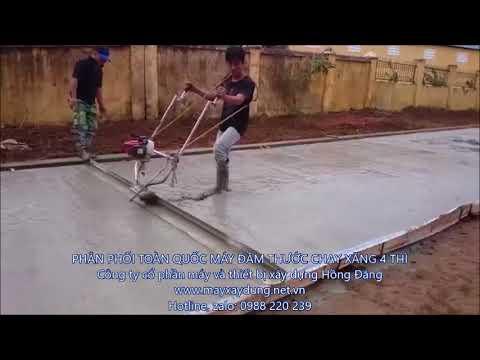 máy cán bê tông 3m, máy đầm thước chạy xăng, máy đầm bê tông honda 0988220239 - YouTube