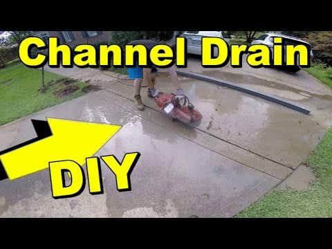 Driveway Channel Drain Diy Less Than 200 00 Youtube