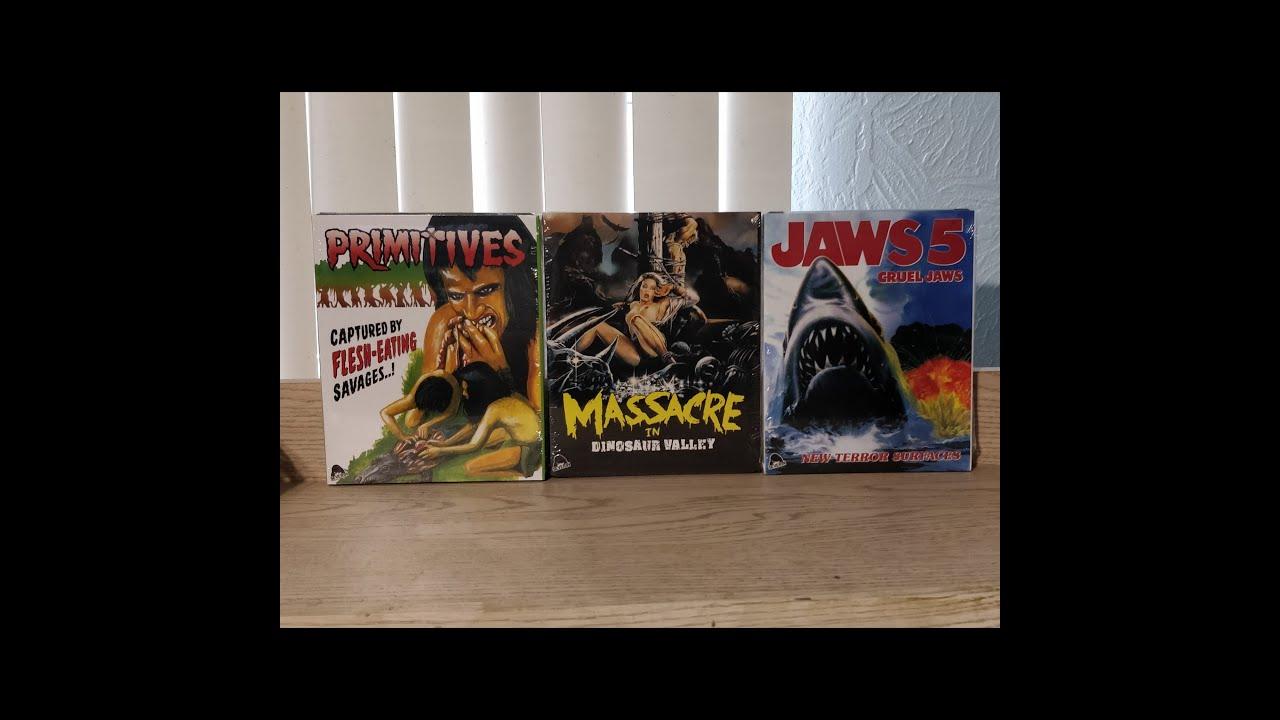 Download The Crueler Bundle / Cruel Jaws / Primitives / Massacre in Dinosaur Valley Unboxing - Severin Films