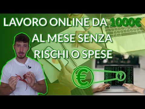 Come trovare un lavoro online da 1000€ al mese senza spese o rischi