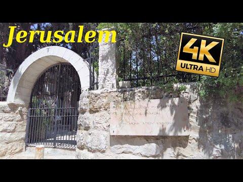 Katamon | San Simon Monastery | Brurya Garden | Jerusalem Walker, 4k60, Surround Street Sound