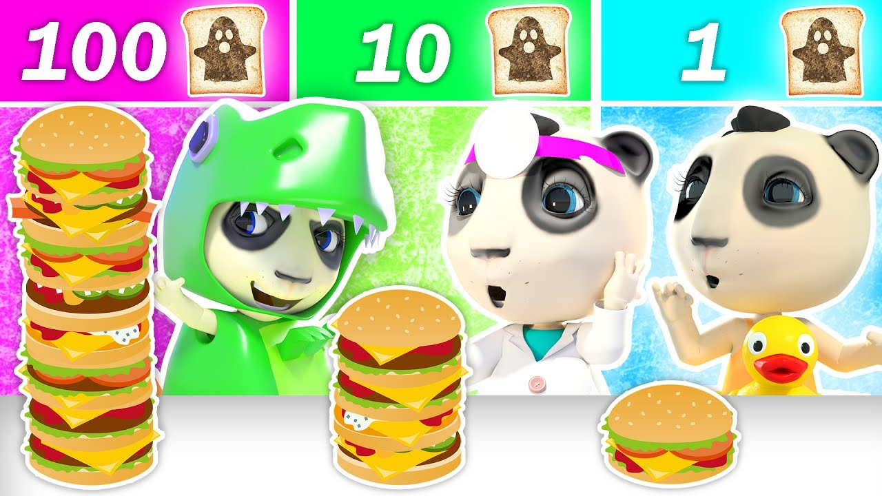 100 Layers Food Challenge   Dolly and Friends Learn Good Habits + Halloween Cartoon & Nursery Rhymes