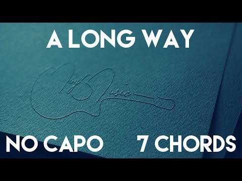 How To Play A Long Way by Luke Combs | No Capo (7Chords) Guitar Lesson