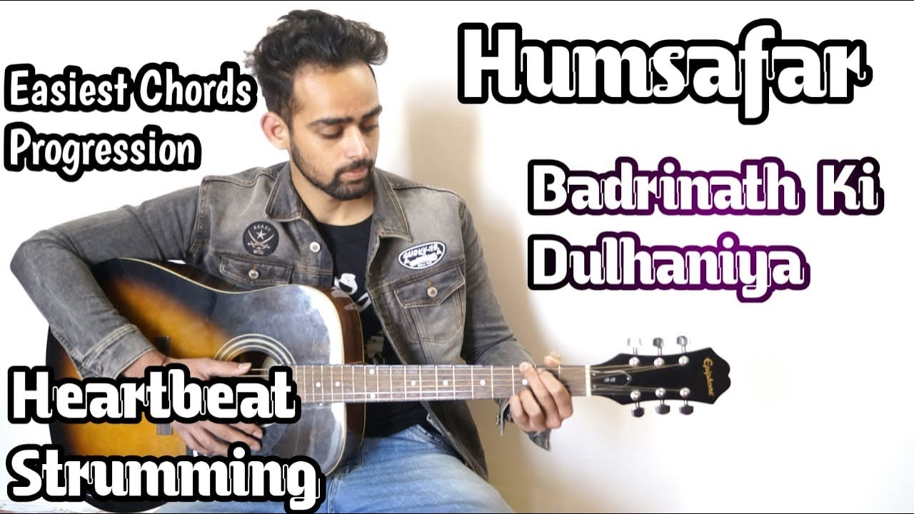 Humsafar Song Guitar Lesson | Easiest Chords For Beginner | Heartbeat Cover | Guitar Adda