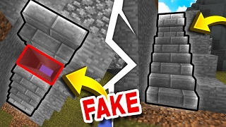 FAKE Staircase TRAP! (Minecraft Skywars Trolling)
