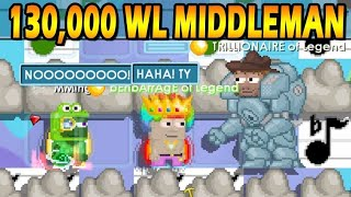 130,000 WL Middleman! Holding 260,000 WLS! | Growtopia