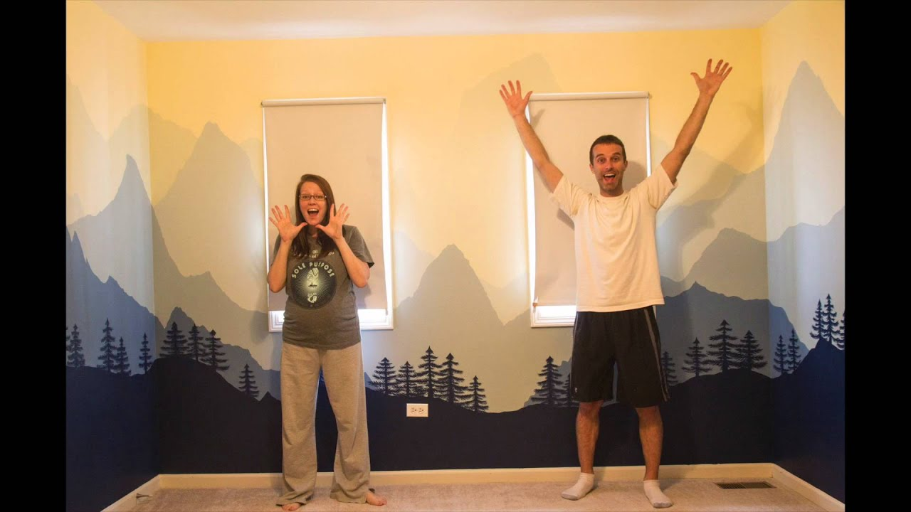 Painting the nursery a time lapse of the baby 39 s room for How to design a mural