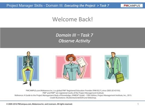 Project Manager Skills - Executing the Project - Stakeholder Relationships - Observe Activity