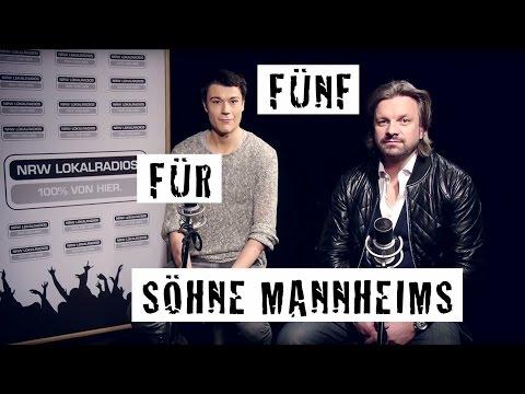 Fünf für Söhne Mannheims (Jonny König und Henning Wehland) - das Interview ohne Fragen