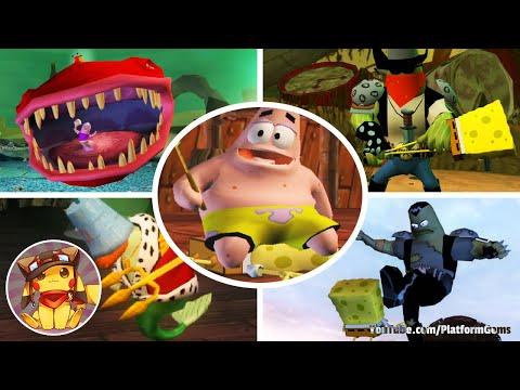 All Boss Fights & Final Boss - SpongeBob Movie Game [1080p]
