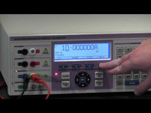 3000A Series Multi Product Calibrator - Range Hold Function