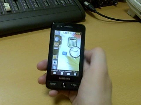 Samsung M8800 Pixon - widgets