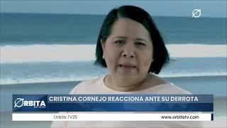 Cristina Cornejo reacciona ante su derrota