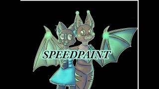 Sarah Kitten and Max the Bat speedpaint (FNAF ocs)