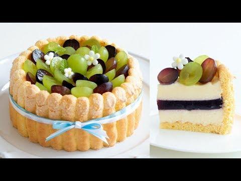 ぶどうのシャルロットケーキの作り方 Grape Charlotte cake HidaMari Cooking
