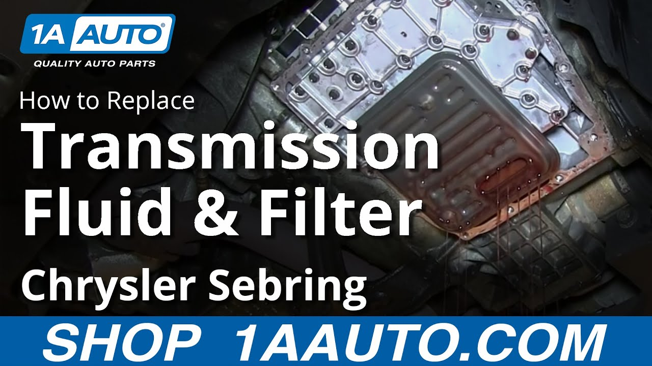 How to Service Automatic Transmission and Filter 01-06 Chrysler Sebring