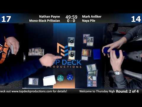 Modern w/ Commentary 12/27/17: Nathan Payne (Mono Black Prilisxian) vs. Mark Anliker (Naya Pile)