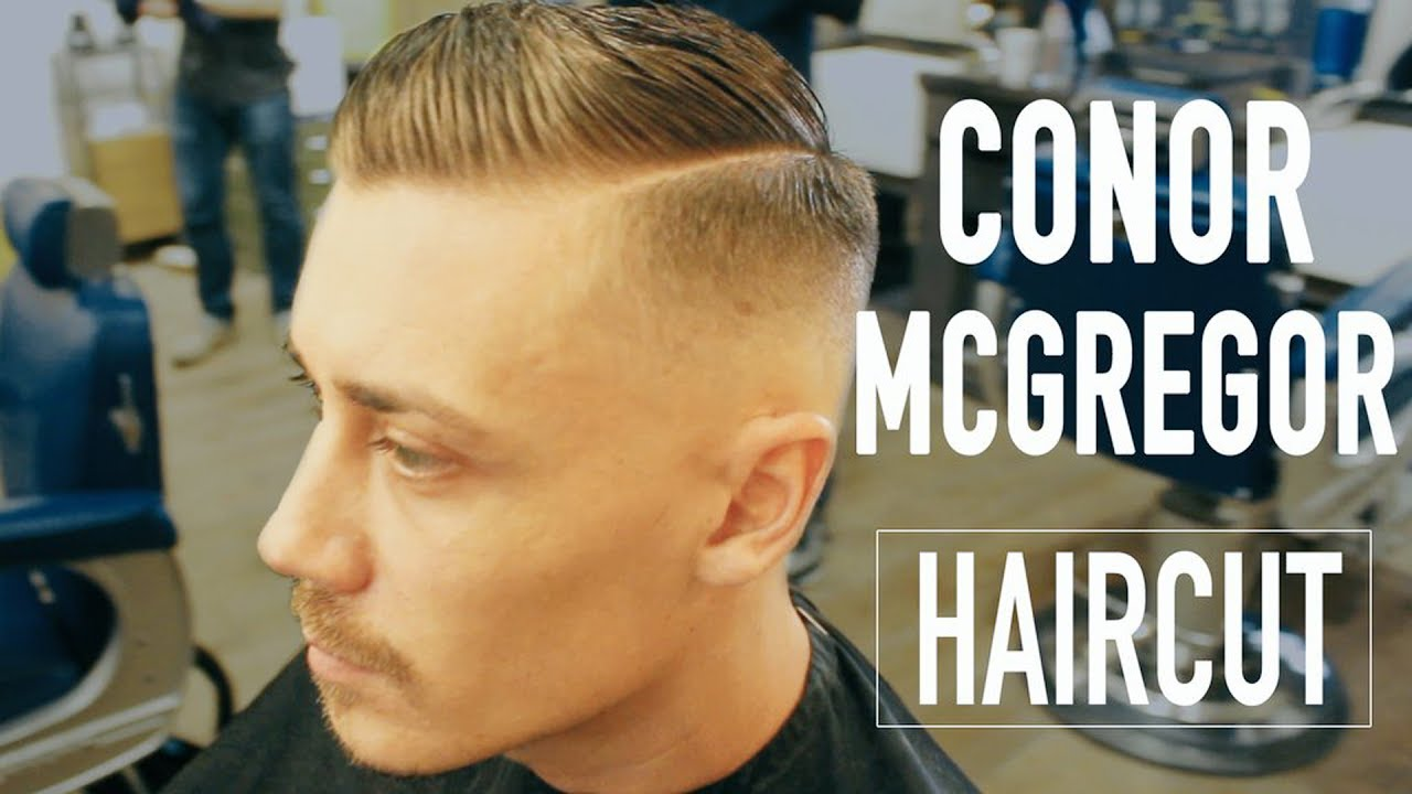 conor mcgregor haircut side parting
