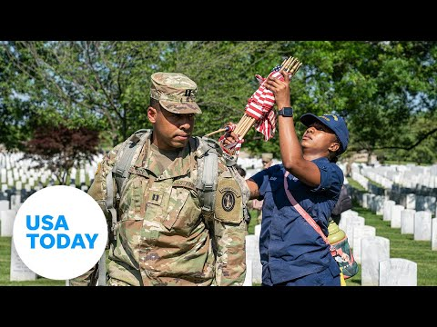What the flag laying ceremony at Arlington National Cemetery means for one soldier | USA TODAY