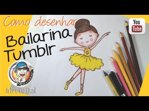 como desenhar bailarina tumblr passo a passo youtube