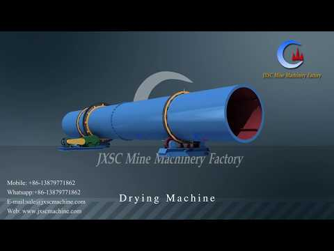 high effect energy saving minerals rotary drying machine for concentrate drying process