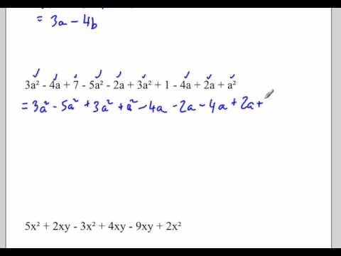 Adding and Subtracting Like Terms : Monomials Polynomials and ...