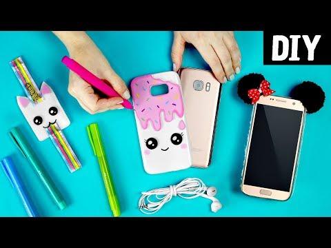 DIYs para o Celular 🐼📲🦄 Capinha de sorvete, pelúcia e Porta Fone de unicórnio