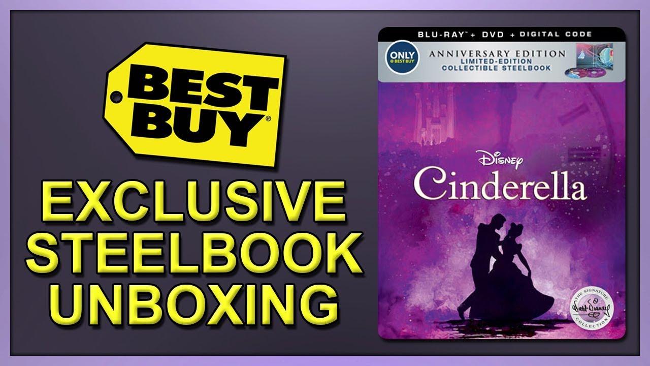 Download Cinderella (1950) Best Buy Exclusive Signature Collection Blu-ray SteelBook Unboxing