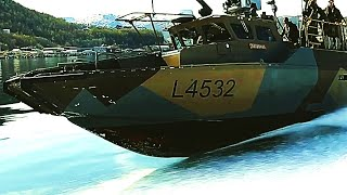 MARINES and Norwegian COMMANDOS train with CB90 FAST ASSAULT CRAFT! Top speed 40 knots (74 km/h)!