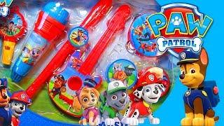Banda Patrulha Canina Paw Patrol Instrumentos Musicais Marshall Rubble Chase Ryder Brinquedos Video